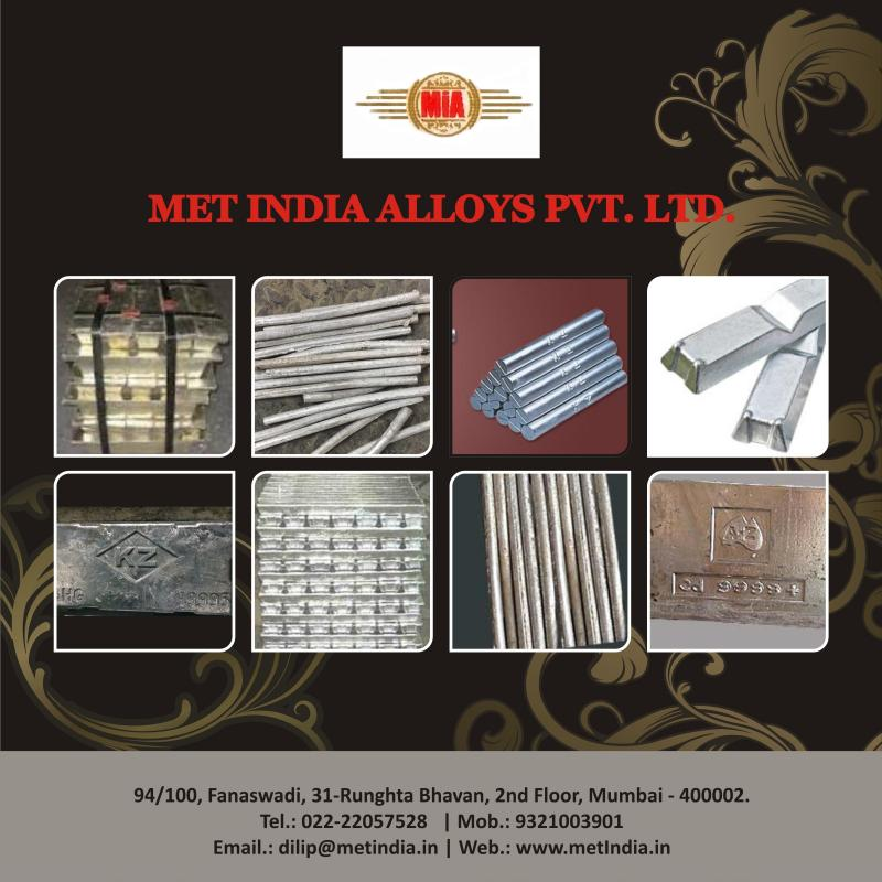 MET INDIA ALLOYS PVT LTD - HOUSE OF METAL ZINC INGOTS, TIN